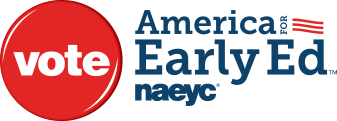 america for early ed vote logo